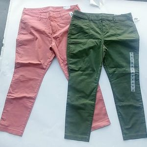 2 NWT Old Navy pixie ankle jean pants size 16